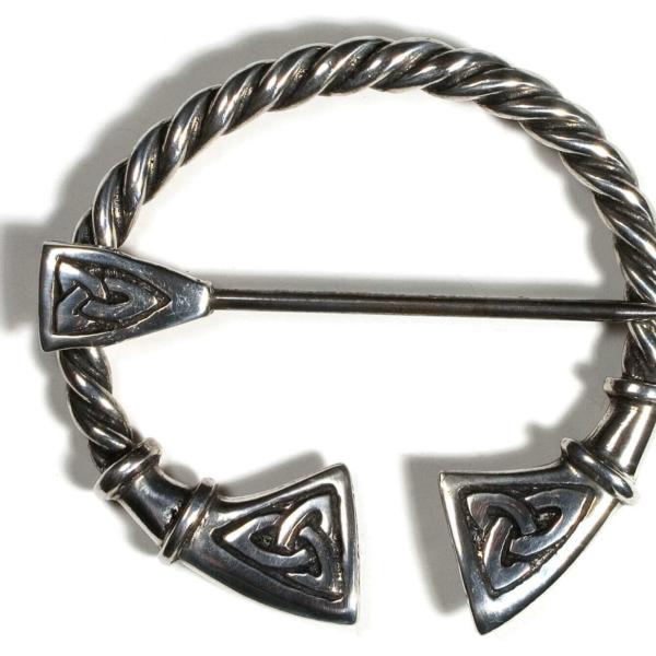 Cornish Pewter Celtic Penannular Brooch