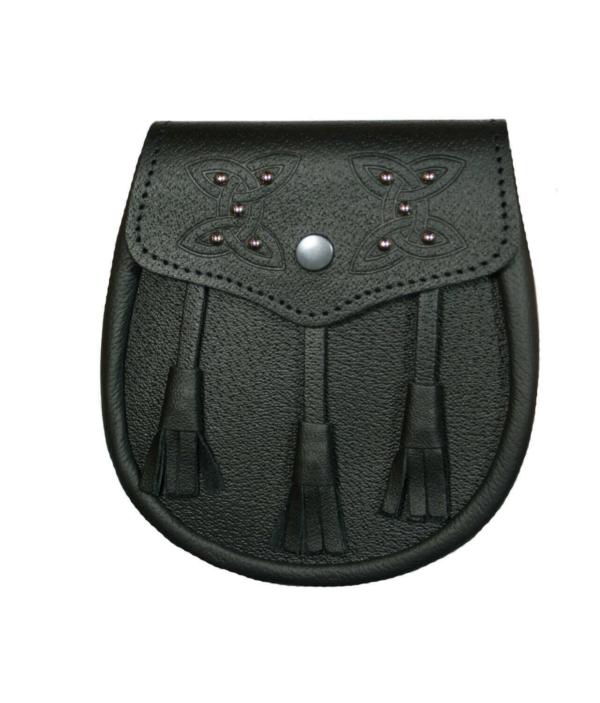Celtic Knot Studded Premium Leather Sporran