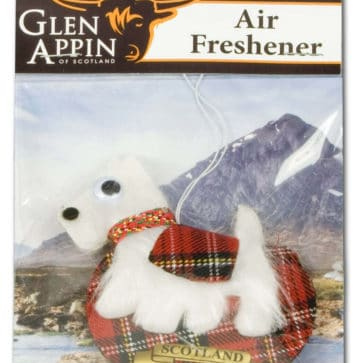 White Scottie Dog Air Freshener