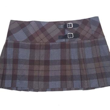 Outlander Poly/Viscose Tartan Mini Skirt