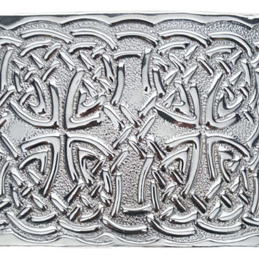 Chrome Celtic Knot Kilt Belt Buckle