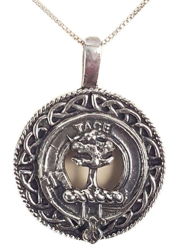 Abercrombie Silver Clan Crest Necklace