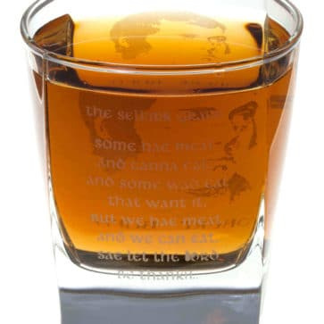 Robert Burns Selkirk Grace Whisky Glass