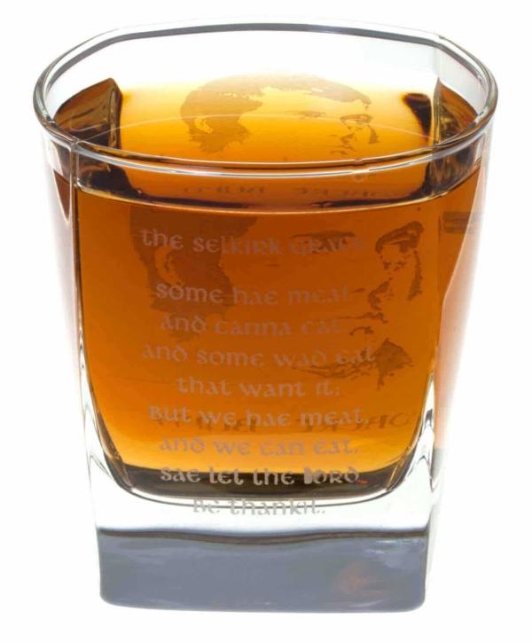 Robert Burns Selkirk Grace Whisky Glass