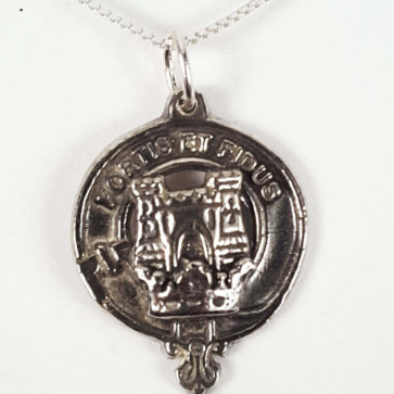 MacLachlan Silver Clan Crest Necklace