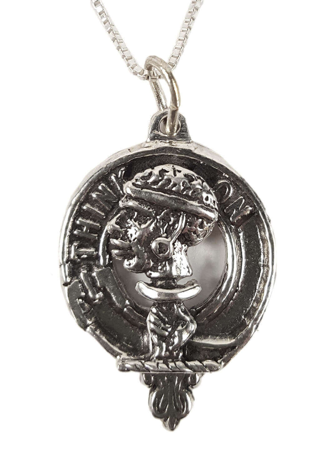 MacLellan Silver Clan Crest Necklace