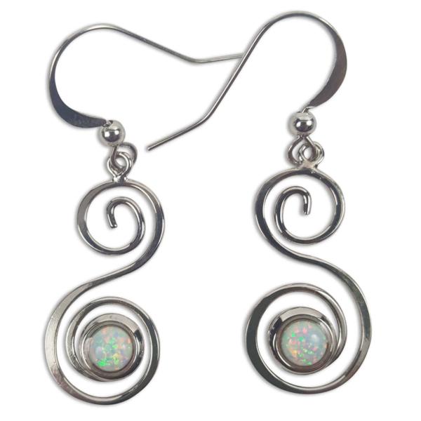 Opal Spiral Earrings