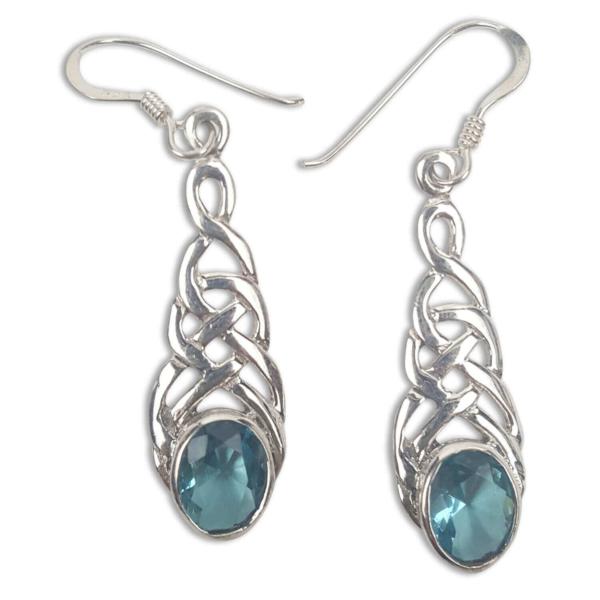 Celtic Knot Sapphire Earrings