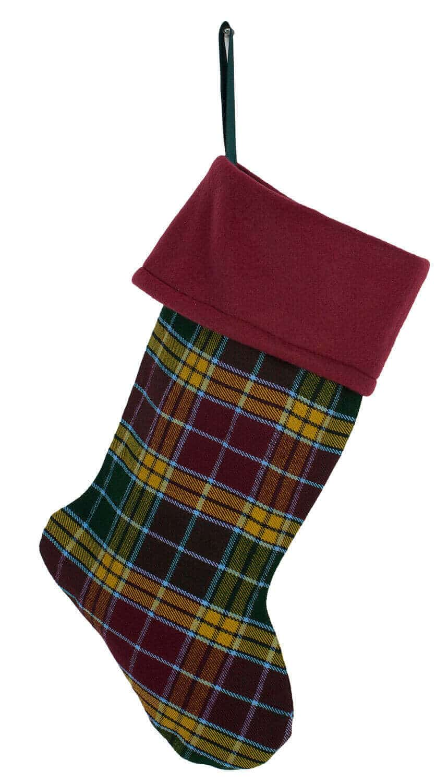 Fleece Topped Homespun Tartan Stocking