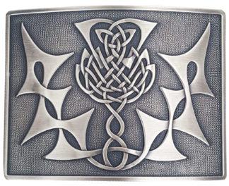 Highland Thistle Antiqued Kilt Belt Buckle