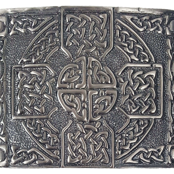 Antiqued Celtic Cross Kilt Belt Buckle