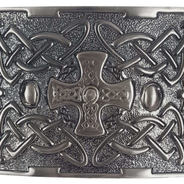 Celtic Cross Antiqued Kilt Belt Buckle