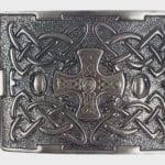 Celtic Cross Antiqued Kilt Belt Buckle