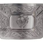 Antiqued Thistle Kilt Belt Buckle