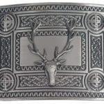 Celtic Knot Kilt Belt Buckle with Stag Mount