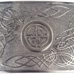 Celtic Swirl Antiqued Kilt Belt Buckle Buckle