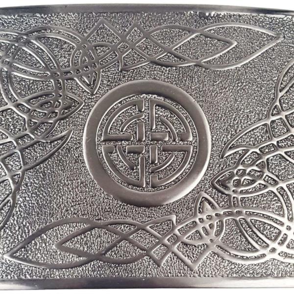 Celtic Swirl Antiqued Kilt Belt Buckle Buckle