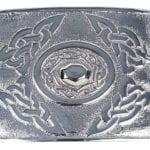Celtic Oval Chrome Kilt Belt Buckle