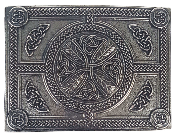 Celtic Cross Pewter Kilt Belt Buckle