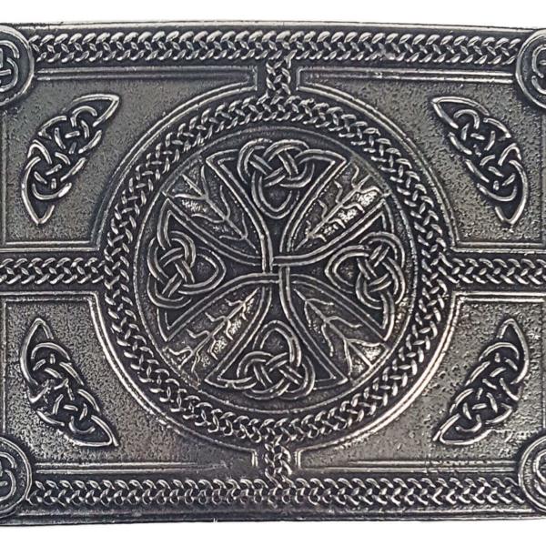 Celtic Cross Pewter Kilt Belt Buckle