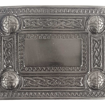 Antiqued Celtic Knot Kilt Belt Buckle
