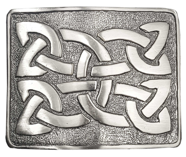 Celtic Weave Antiqued Kilt Belt Buckle