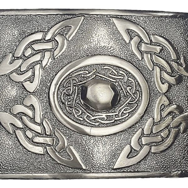 Celtic Oval Antiqued Kilt Belt Buckle