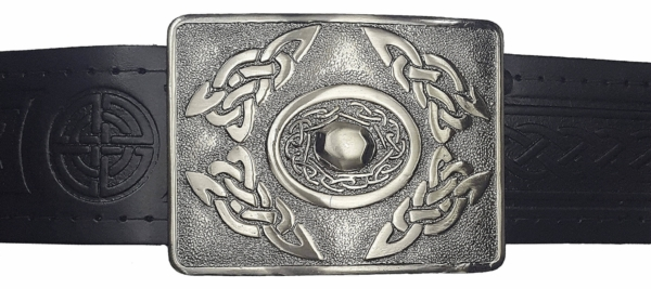 Celtic Oval Antiqued Kilt Belt Buckle