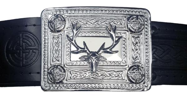 Stag Celtic Knot Kilt Belt Buckle
