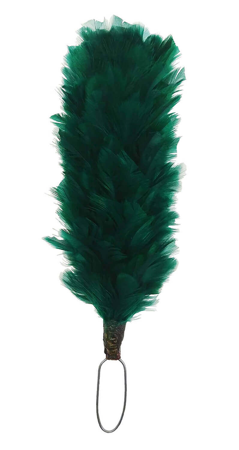 GREEN FEATHER HACKLE PLUME FOR GLENGARRY /& BALMORAL HATS HIGHLANDWEAR KILT NEW