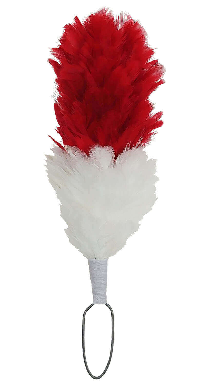 Red and White Hackle
