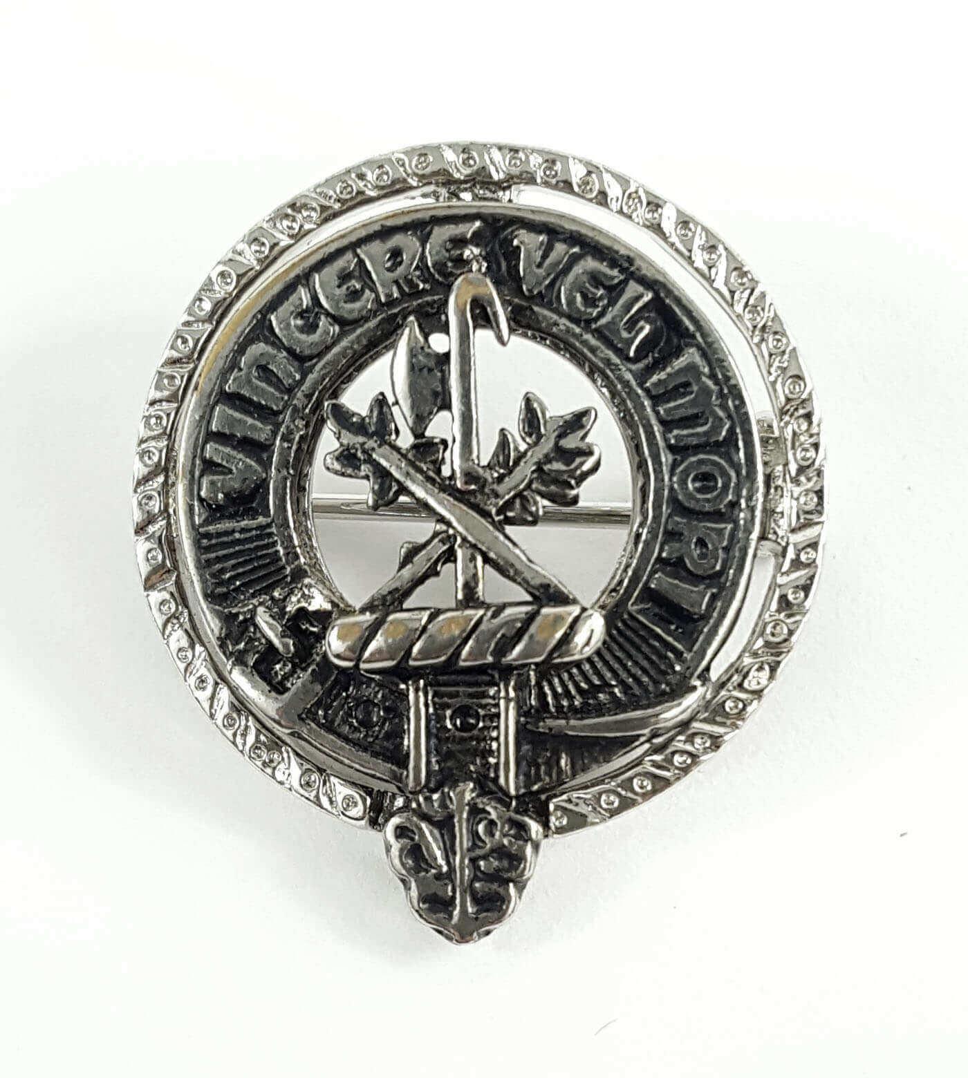 MacLaine Clan Crest Mini Brooch