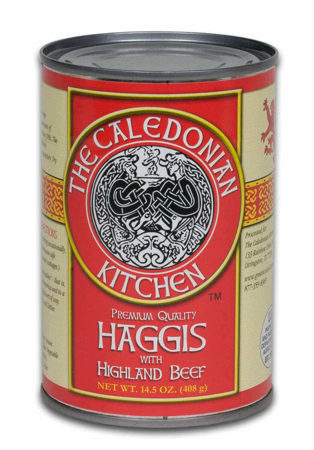 Highland Beef Haggis Case of 12 Cans
