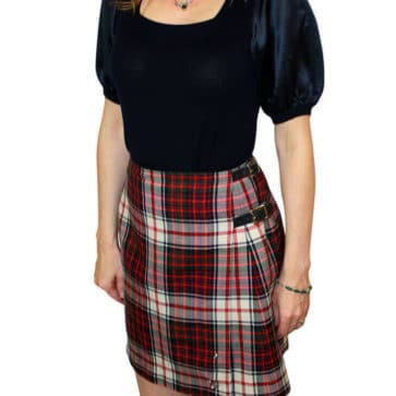 Poly Viscose Standard Ladies' Kilted Skirt