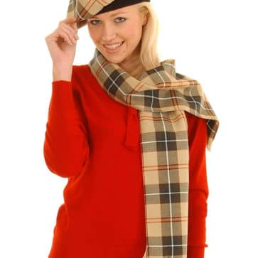 Spring Weight Premium Wool Tartan Scarf