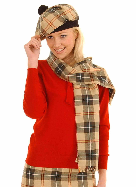 Spring Weight Premium Wool Tartan Scarf