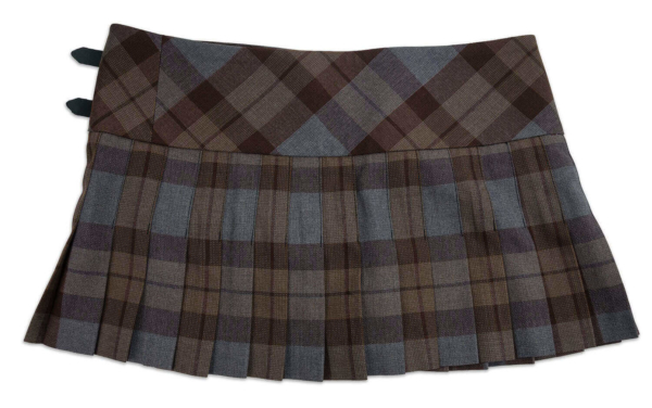 OUTLANDER Billie-Style Kilted Mini-Skirt Poly/Viscose