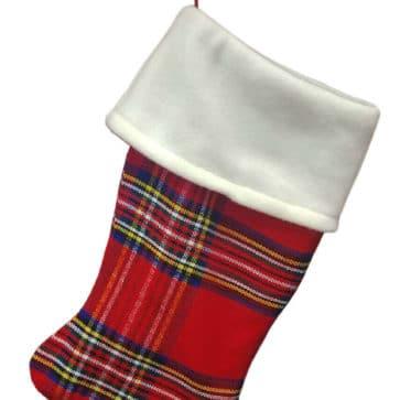 Stewart Royal Fleece Topped Homespun Tartan Stocking