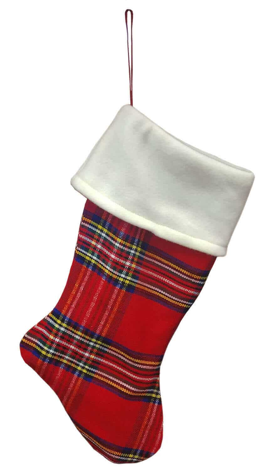 Stewart Royal Fleece Topped Homespun Tartan Stocking