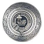 Clan Crest Round Pewter Kilt Belt Buckle