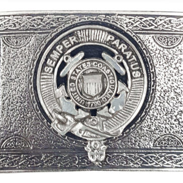 U.S. Coast Guard Pewter Kilt Belt Buckle
