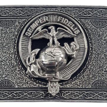 U.S. Marine Corps Pewter Kilt Belt Buckle