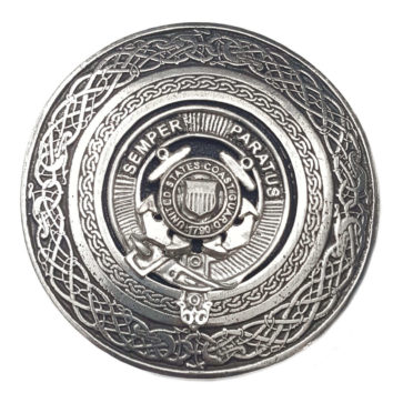 U.S. Coast Guard Round Kilt Belt Buckle