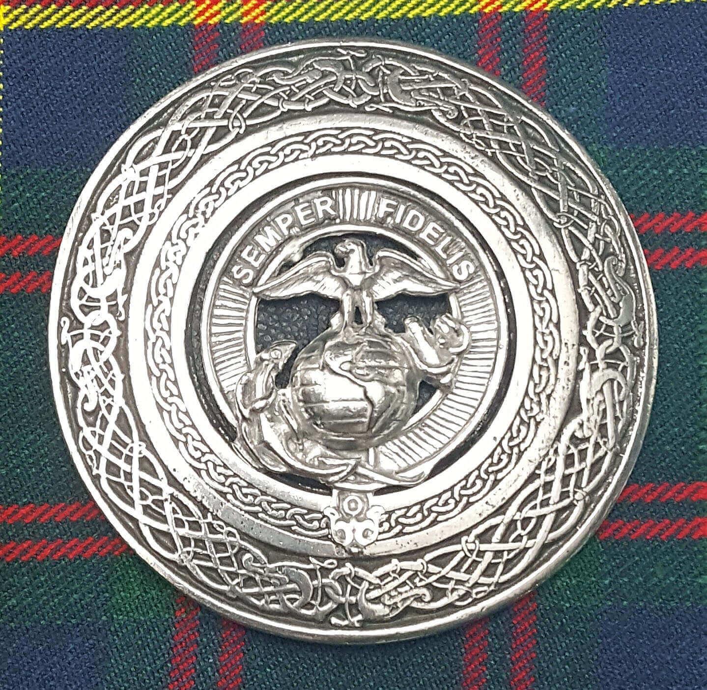 U.S. Marine Corps Round Kilt Belt Buckle