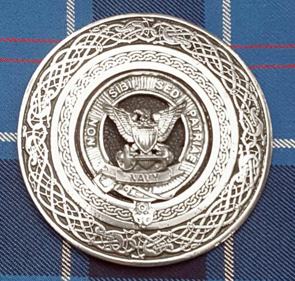U.S. Navy Round Kilt Belt Buckle