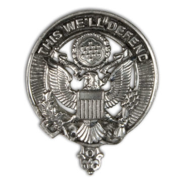 U.S. Army Pewter Cap Badge/Brooch
