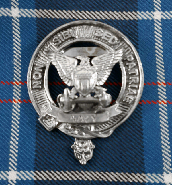 U.S. Navy Pewter Cap Badge/Brooch