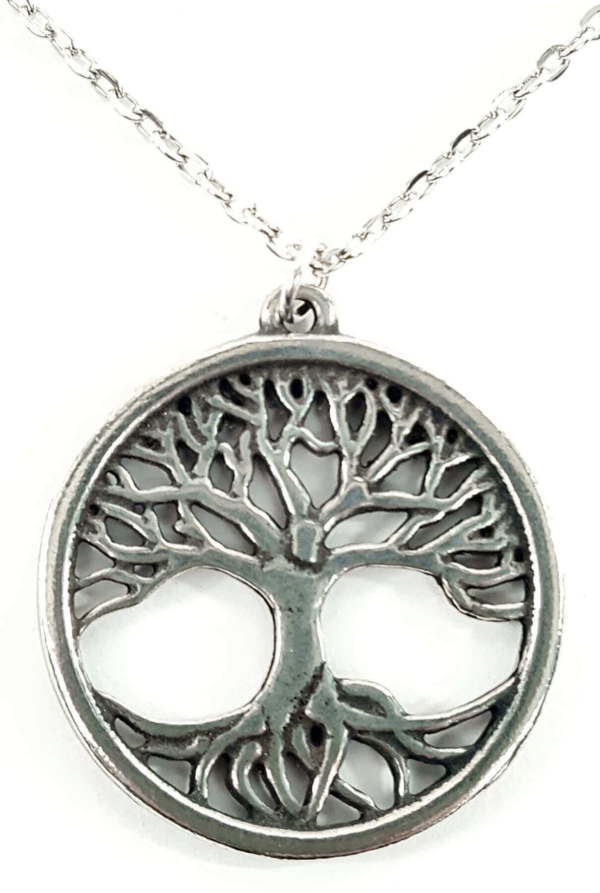 St. Justin's Tree of Life Pewter Pendant