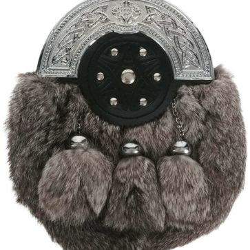 Grey Rabbit Fur Sporran