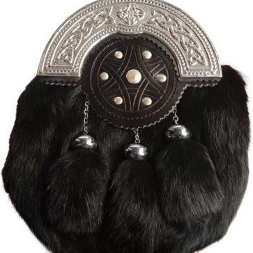 Black Rabbit Fur Sporran